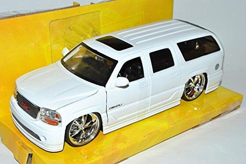 gmc-yukon-denali-weiss-2000-2006-1-24-jada-modell-auto-mit-individiuellem-wunschkennzeichen