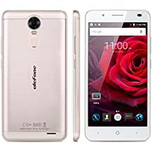 "Ulefone Tiger - 4G Smartphone Libre Android 6.0 Multitáctil (Pantalla HD 5.5"", 1.3GHz MT6737 Quad Core, 2GB RAM 16GB ROM, 8.0MP Cámara, Touch ID, OTG, GPS, WIFI, Dual SIM) (Dorado)"