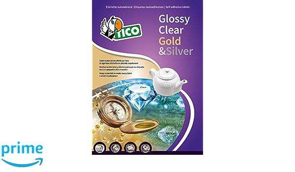 tico pg4-25 etichette lucide rotonde, diametro 25, 100 ff, bianco ... - Tico Arredo Bagno