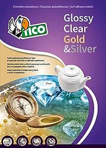 Tico PC4-36 Etichette, 36 x 22, Confezione 100, Trasparente Lucide