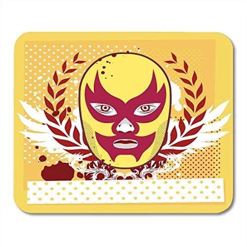 Cartoon Charakter Schnelle Kostüm - Luancrop Mauspads Farbe Grün Cartoon Wrestler Kopf Halbton Charakter Kostüm Gesicht Mauspad für Notebooks, Desktop-Computer Matten Bürobedarf