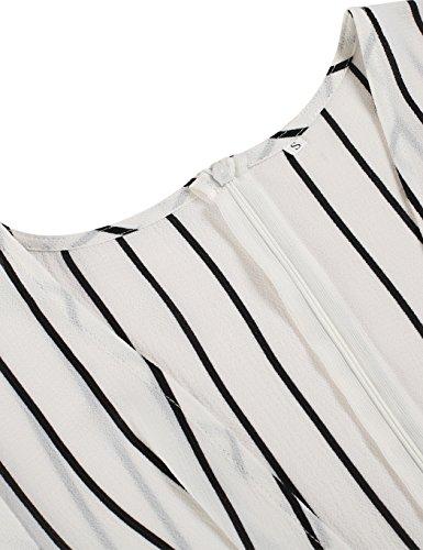 CRAVOG Damen Sexy V Ausschnitt Sommerkleid Party Strandkleider Weiß