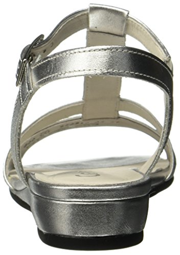Gabor Damen Comfort Sport Riemchensandalen Mehrfarbig (Silber)