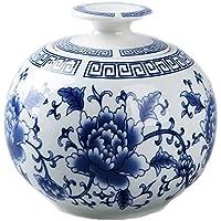 Black Temptation China Retro Azul y Blanco de Porcelana de Almacenamiento de jarras de té latas