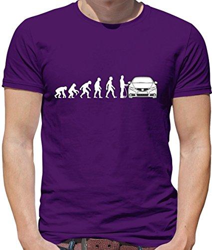 Evolution of Man - Civic Fahrer - Herren T-Shirt - Lila - M