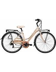 'Bicicleta Cicli Adriatica Sity 3 de mujer, estructura de aluminio, rueda de 28, cambio Shimano, talla 45, 3 colores disponibles, rosa Cipria