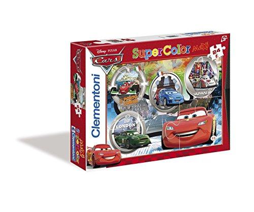 Clementoni- cars supercolor puzzle, 24 pezzi, 24432