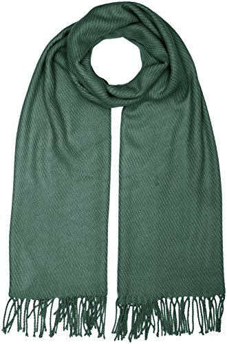 PIECES, Unisex Schal KIAL LONG SCARF NOOS, Grün(Balsam Green), One size