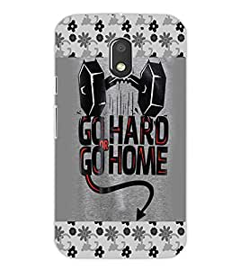 PRINTSWAG Designer GO HARD Backcover For Motorola Moto E3