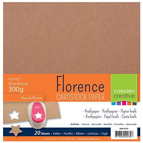 rence Cardstock Kraftpapier Quadratisch 300g, 20 Blatt zum Scrapbooking und Gestalten von Einladungen, Karten und Fotoalben ()