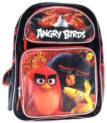 Mochila--Angry-Birds-pelcula--rojonegro-Lienzo-rojo-16-Bolso-de-escuela-nueva-141152