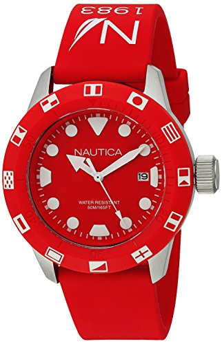 Nautica Unisex NAD09510G NSR 100 FLAG Analog Display Quartz Red Watch
