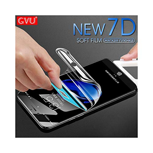VBNICE Schutzfolie GVU 7D Full Cover Soft Hydrogel Film for iPhone 6 6S 7 8 Plus X 10 Screen Protector On The for iPhone 6 6S 7 8 X Film Not Glass for iPhone 7 Plus - Iphone 6 Xl Screen Protector