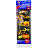 Super Toy Metal Die Cast Metal Toy Set Of 5 (Construction Truck Model)