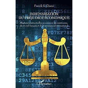 Indemnisation du préjudice économique: Ruptures contractuelles en common law américaine, droit civil français et droit commercial international