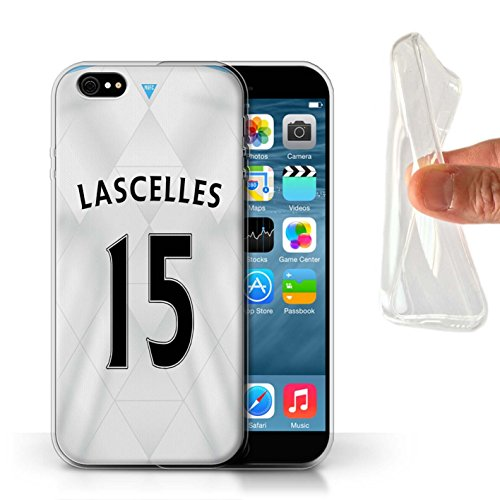Offiziell Newcastle United FC Hülle / Gel TPU Case für Apple iPhone 6S / Pack 29pcs Muster / NUFC Trikot Away 15/16 Kollektion Lascelles