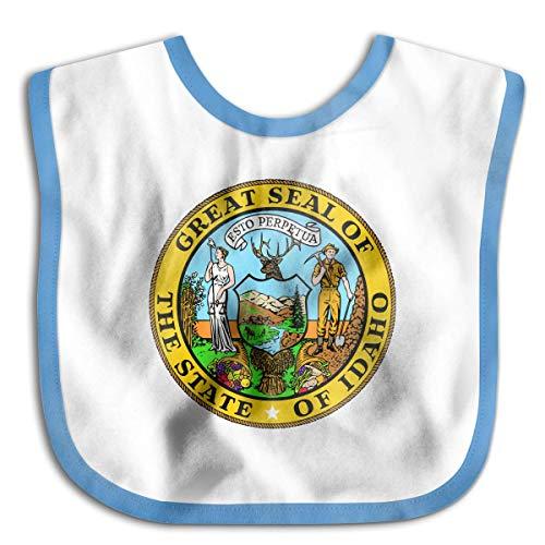 Seal of Idaho State Newborn Baby Boys Girls Towel Bib Skin-Friendly Saliva Towel Bibs - Idaho State Seal