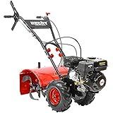 HECHT Benzin-Gartenfräse 750 Motorhacke Kultivator Bodenhacke Bodenfräse Fräse (Motorleistung: 4,7 kW (6,5 PS), 50 cm Arbeitsbreite, 4 Kreisel mit je 4 Messern)