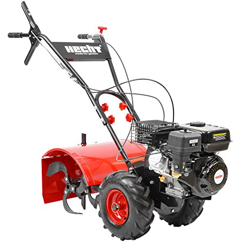 HECHT Benzin-Gartenfräse 750 Motorhacke Kultivator Bodenhacke Bodenfräse Fräse (Motorleistung: 4,7 kW (6,5 PS), 50 cm Arbeitsbreite, 4 Kreisel mit je 4 Zinken)