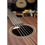 JamesNeligan 058836 Guitare electro-acoustique Dreadnought en acajou massif Gris