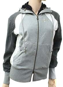 Nike Womens Grey Zip Hooded Sweatshirt Size XS