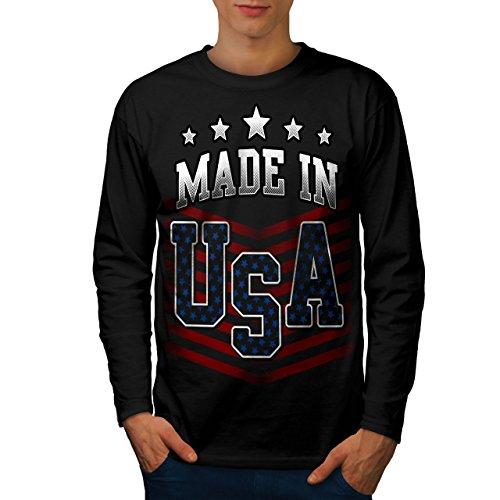 wellcoda Gemacht im USA Männer M Langarm T-Shirt