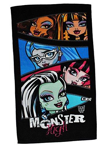 Badetuch Monster High 70 cm * 140 cm Handtuch Strandtuch Baumwolle - Mädchen pink Gothik Puppen Puppe 70x140 für Kinder Badehandtuch Draculaura