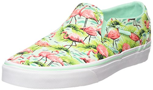 Vans Asher, Baskets Basses Femme Multicolore (Flamingo/Mint)