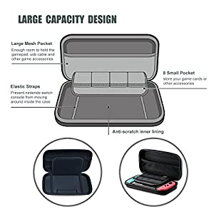 Nintendo Switch Case, ProCase Hard Shell Game Traveler Travel Carrying Box Case for Nintendo Switch