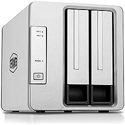 TERRAMASTER D2-310 USB3.1(Gen1, 5Gbps) Boîtier Disque Dur Externe 2 Baies Raid pour 2.5'' et 3.5'' HDD, SSD(2 x 12To) (sans Disque)