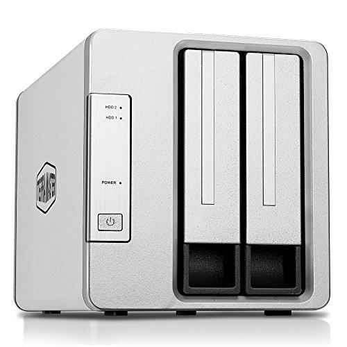 TERRAMASTER D2-310 USB3.1(Gen1, 5Gbps) Externe Festplattengehäuse Typ-C SUPERSPEED+2 Bay RAID Gehäuse (Diskless)
