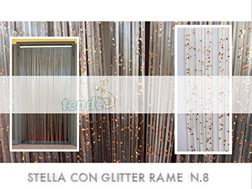 Tenda/moschiera pvc – modello stella - made in italy – asta in alluminio - (90x200 - 95x200 - 100x220 - 120x230 - 130x240) (100x220)