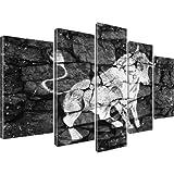 Bilder Stier Stierkampf Corrida Kunstdruck 5-Teilig: 175x100 cm Schwarz-Weiss