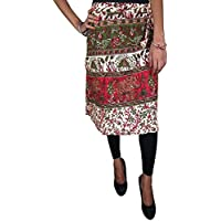 Mogul Interior Beach Wrap Around Skirt Block Print Hippie Chic Wrap Skirt, Gift For Her