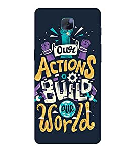 MOTIVATIONAL QUOTE 3D Hard Polycarbonate Designer Back Case Cover for One Plus Three :: One Plus 3 :: One+3 :: OnePlus 3