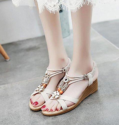 Estate 2017 nuova pendenza con sandali aperta punta in appartamento con un set di piedi piedi scarpe 1