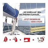360° Umhängetasche Segeltuchtasche Tender, Rot, 38 x 46 x 16 cm, 27 Liter, 10938