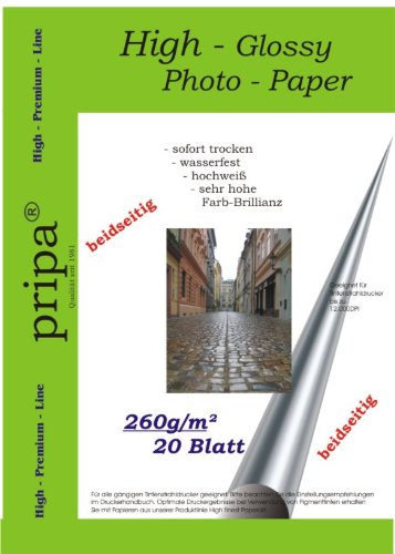 pripa-photo-paper-din-a4-260g-sqm-glossy-on-both-sides-dries-immediately-waterproof-very-high-photo-