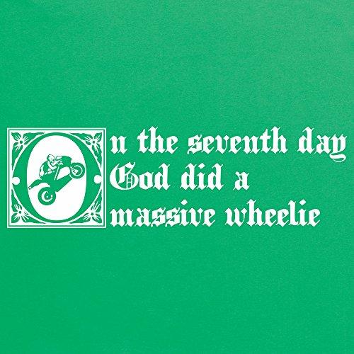 God Did A Massive Wheelie T-Shirt, Herren Keltisch-Grn
