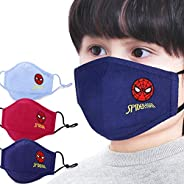 The Hero Kid Spiderman Face Mask Cotton Embroidery Design Washable & Soft Dust Proof 100% Layers of Filter
