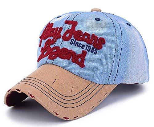 elwow deportes al aire libre tela vaquera Vintage gorra de béisbol, T