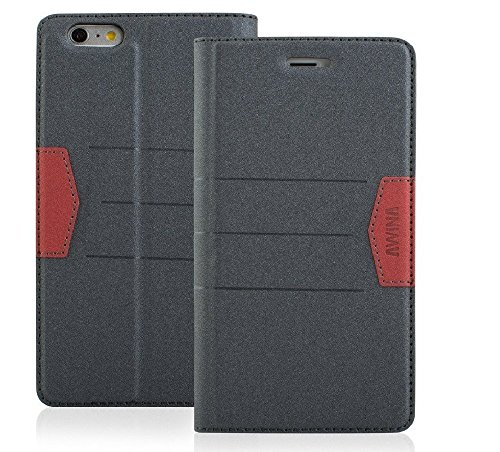Price comparison product image Top Quality Apple iphone 6 / 6s Case cover, Apple iPhone 6s Designer Style Wallet Case Cover (Gray)