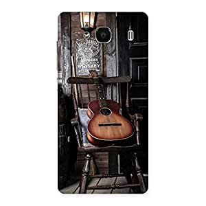 Gorgeous Old Guitar On Chair Back Case Cover for Redmi 2