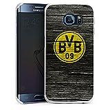 DeinDesign Samsung Galaxy S6 Edge Hülle Case Handyhülle Borussia Dortmund BVB Holzoptik