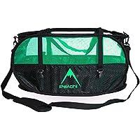 Psychi - Bolsa para Cuerda y Material de Escalada - con Asas de Transporte y Tiras para Fijar Aparejos - Verde