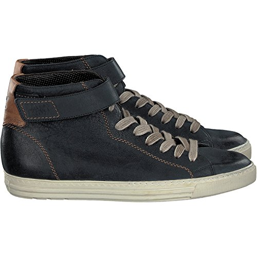 Paul Green 4224-098 Damen Sneaker Aus Hochwertigem Glattleder Paillettenbesatz Glossy Piombo