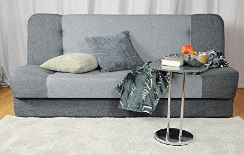 Avanti trendstore - divano con funzione letto, in tessuto grigio - ca. 195x90cm