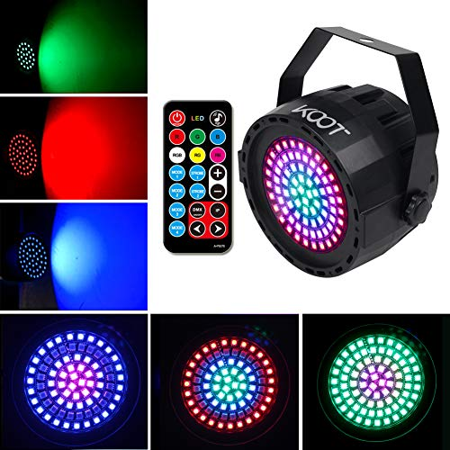 1KOOT 78LEDS Par Disco Licht 2019 Neueste RGB Bühnenlicht Blitzlicht Ton Aktiviert und Fernbedienung Beste für Geburtstags party Discokugel -