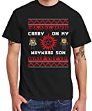 clothinx Herren T-Shirt Christmas Sons Schwarz Gr. M