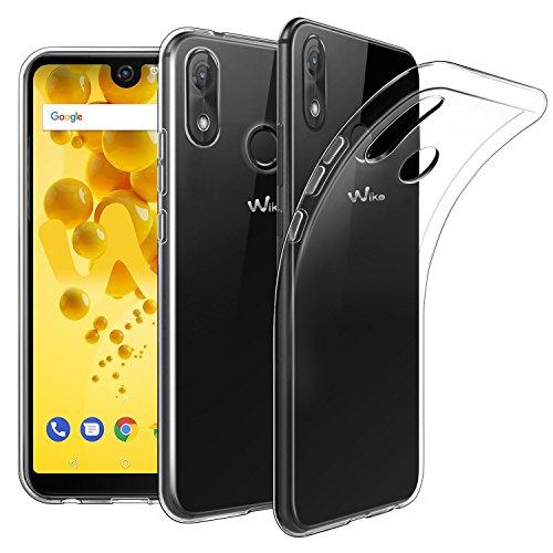 XvDsu Wiko View 2 Pro Hülle, Hüllen Handyhülle Flexible dünne dünne TPU Gel Rubber Case weiche Stoßschutzhülle für Wiko View 2 Pro (Transparent)
